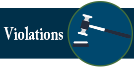 Violations Button - Criminal Defense Attorney